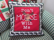 Don't moose with me 4 t-shirt pillow