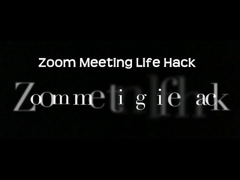 Team coVideo Morning - Zoom Meeting Life Hack