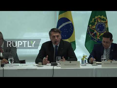 "Bolsonaro frustrated with inability to change ""security people"" in expletive-laced video release..."
