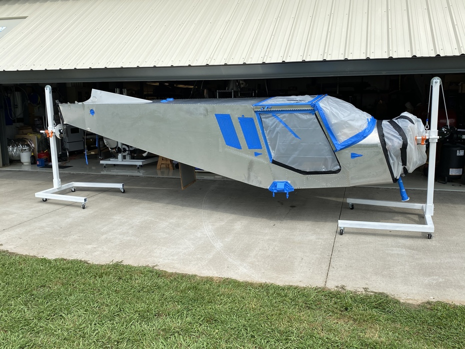 Fuselage getting ready for paint