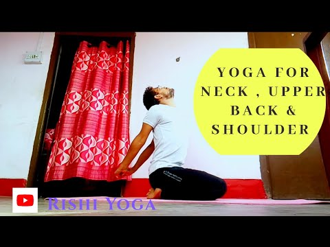 yoga for neck , upper back & shoulder /  Rishi Yoga / #stayathome #stayfit #yogaathome