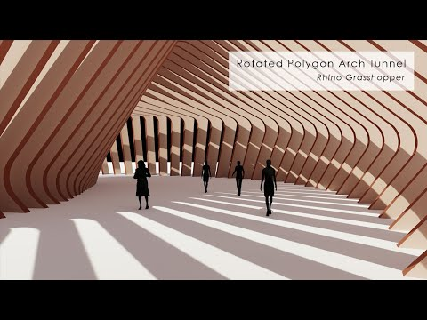 Rotated Polygon Arch Tunnel Pavilion