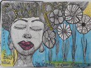 In the garden of my mind - Art Journal Page