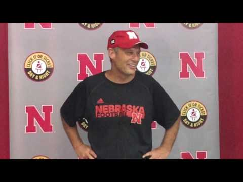 Nebraska Head Coach Mike Riley following day 1 of Fall Camp 2017