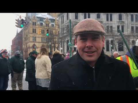 Mayor Ben Walsh kicks off St. Patrick's Day