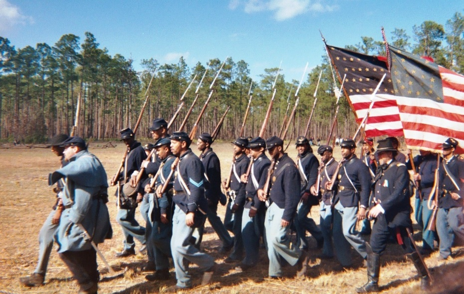 Olustee Battle - Union Troops Fighting For Their Freedom