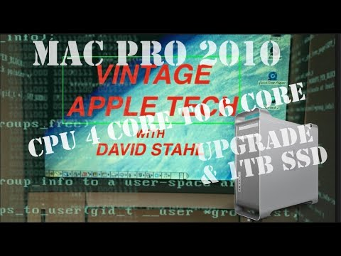 "UPGRADING  CPU 4 CORE TO 6 CORE  & 1TB SSD Part 2  DAVEs VINTAGE APPLE TECH ""11"