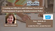 Creating an Effective and Efficient Travel and Entertainment Expense Reimbursement Policy