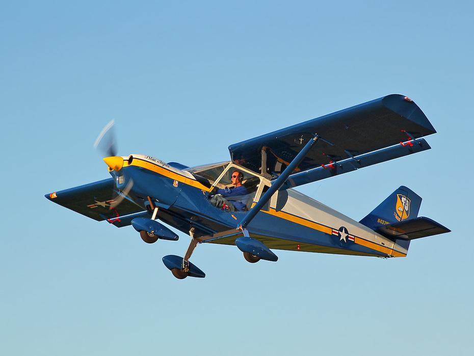 "First Flight! ""Blue Angels"" Zenith CH 750 Cruzer"