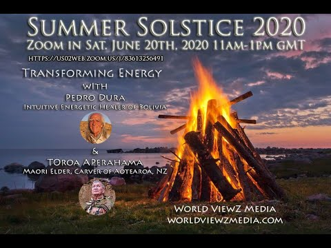 Summer Solstice 2020 with Pedro Dura & Toroa Aperahama Zoom In 11am-1pm Saturday June 20th, 2020