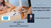 California Employment Law Updates for 2020