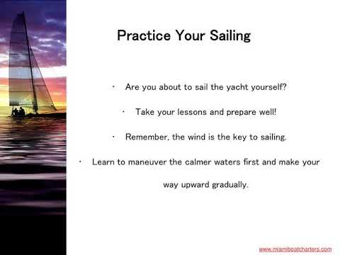 Things to Consider When Sailing a Yacht