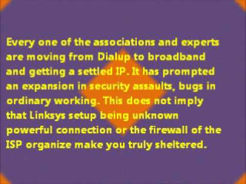 Linksys Firewall For Home Networking System