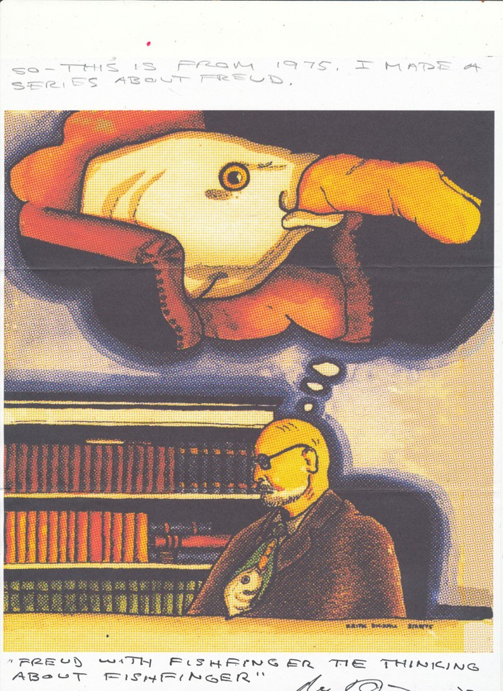Freud's fishfinger thoughts by Mike Dickau