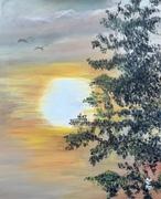 Coucher de soleil à Sainte Anne