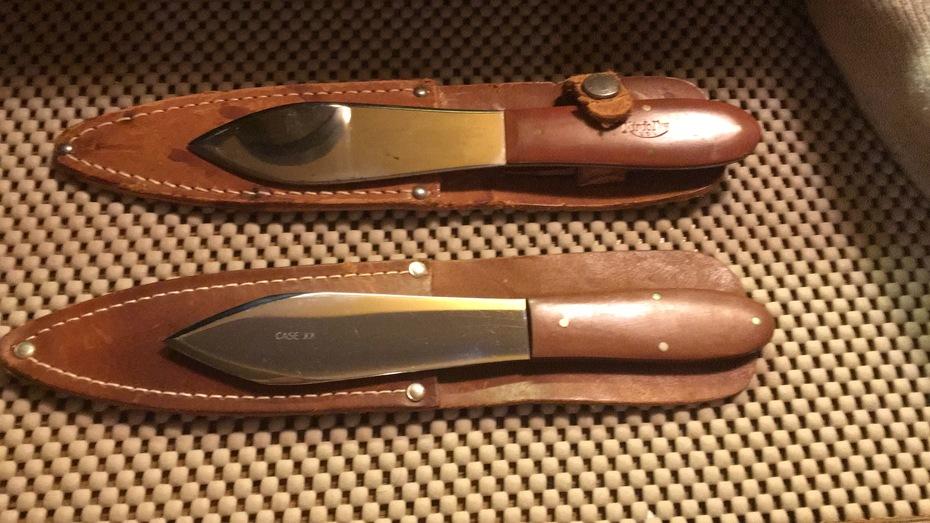case XX and a Knifolk thrower w sheaths