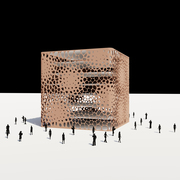 Voronoi Pattern Facade Point Attractor Rhino Grasshopper