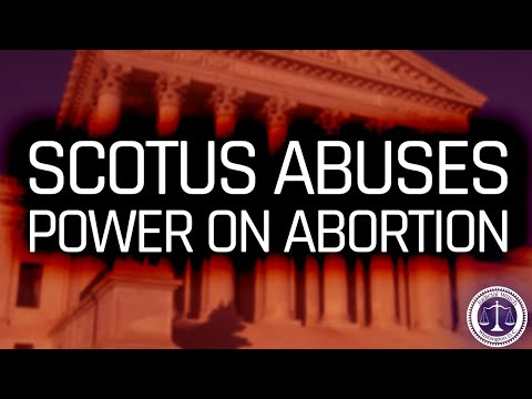 Supreme Court Went ROGUE on Abortion! A Sad Day for the Constitution & the Rule of Law