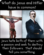 Jesus Christ and Adolf Hitler