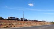 Trem de containers em Uberlândia