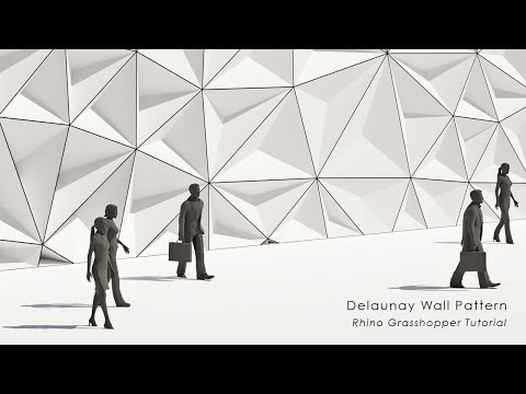 Delaunay Wall Pattern Rhino Grasshopper Tutorial
