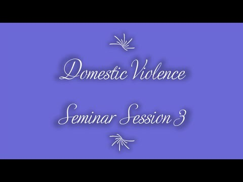 "Domestic Violence Seminar Session 3 (""Receiving Forgiveness"") on 7-20-2020"