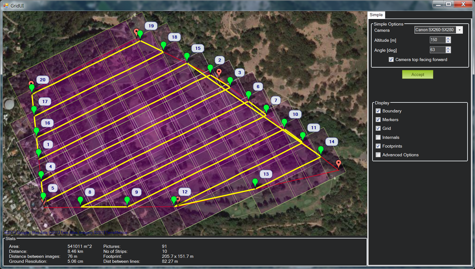 Creating automatic mission plans for aerial surveying - DIY Drones