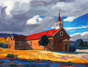 STORM CLOUDS OVER ROWE NEW MEXICO  Edward Gonzales  30x40 inches  acrylic on canvas  2020
