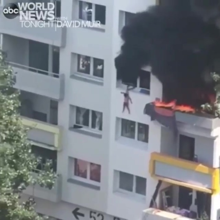 2 Boys Survive After Getting Thrown Out Of A Burning Apartment Building In France