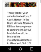 Selected for Coast2Coast Mixtape Vol.16 !!!!