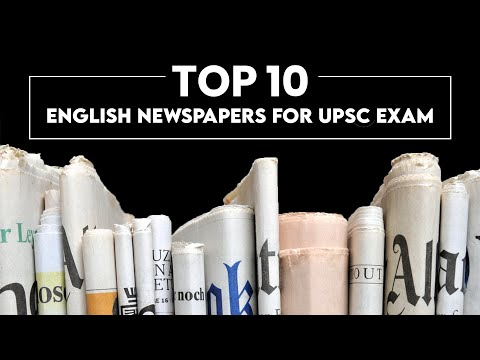 Top 10 English Newspaper for UPSC Exam | Best English Newspaper for UPSC Preparation