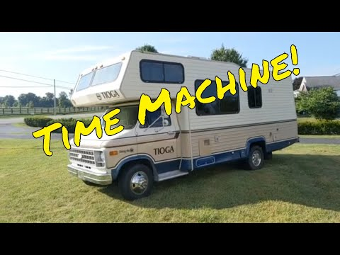 A time machine!  A virtual tour of a 1981 Tioga RV by Fleetwood!  Not your fathers Winnebago!