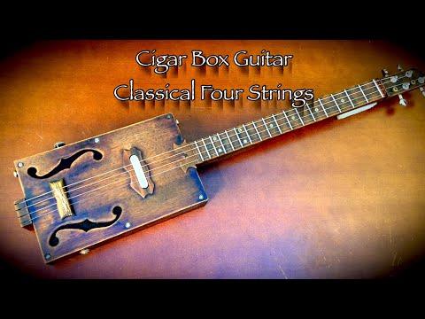 Cigar Box Guitar Classical Four Strings