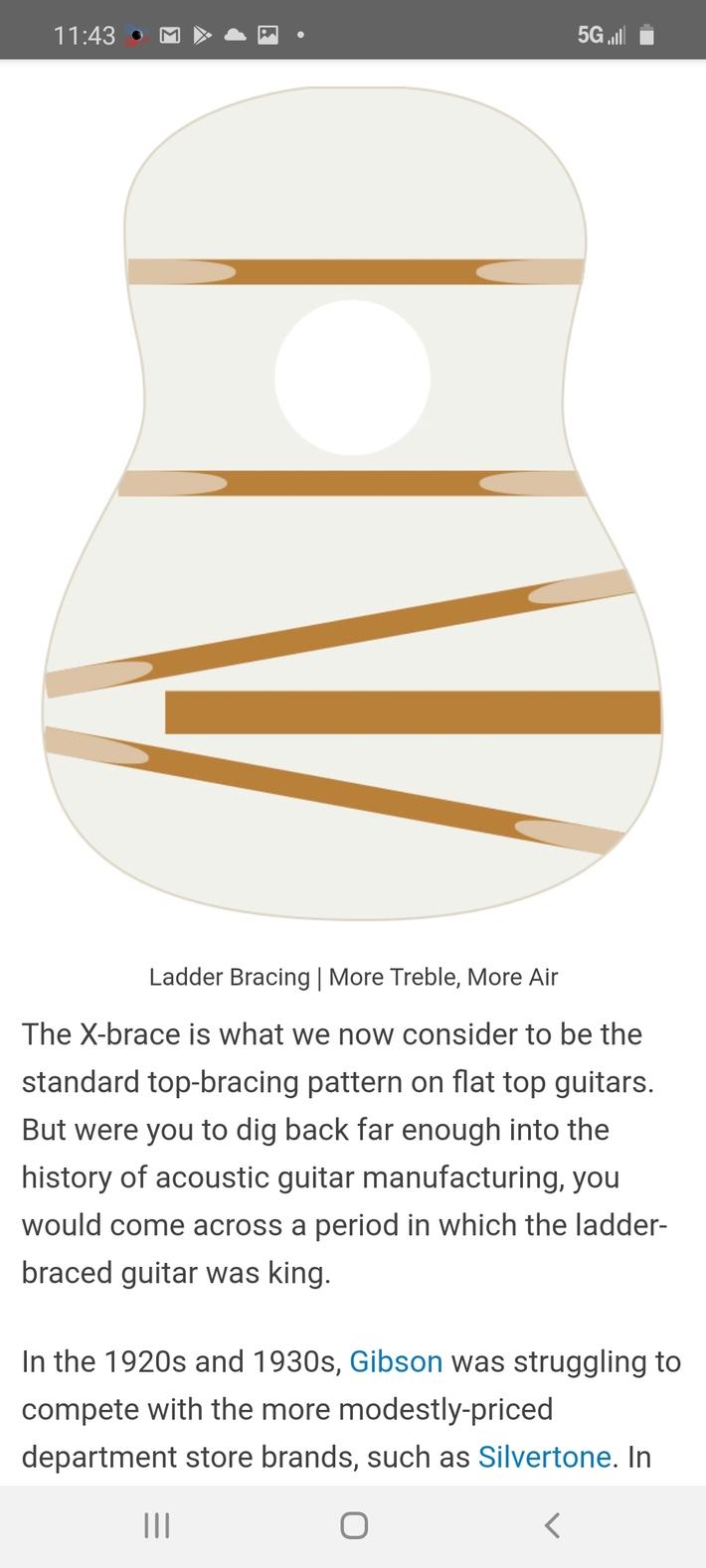 Department store guitar bracing.