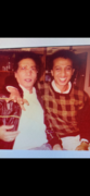 Mohamed Tawfik Al-Mansouri, Ph.D. in 1989 with uncle Abdulwahab