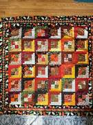 Quilt #167 - Grey's First Quilt (Autumn Log Cabin)