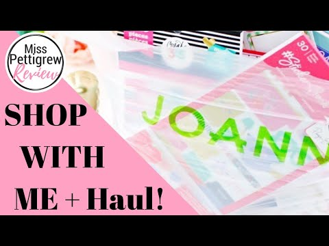 JOANN'S FABRIC STORE: Shop with me Joann's Happy Planner, Crafts & Planner Stickers Haul! HUGE SALE!