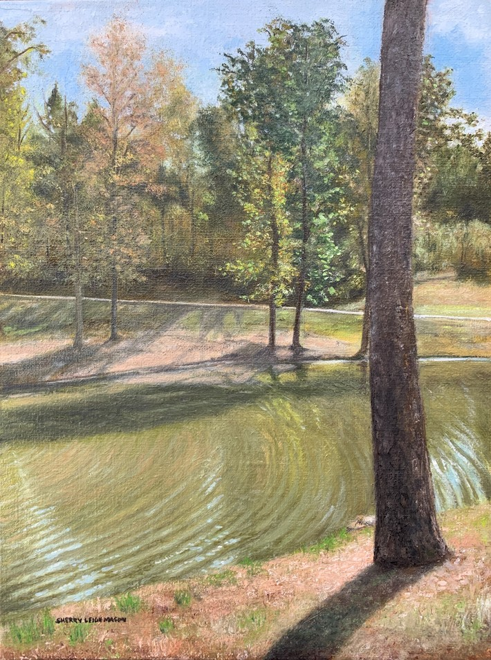 'A Walk in the Park' 9 x 12 oil