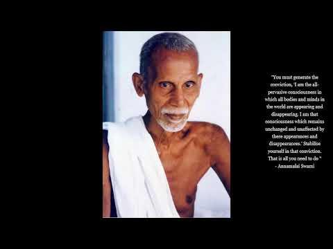 Annamalai Swami  - Key Pointers for Meditation - (Ramana Maharshi) - Advaita