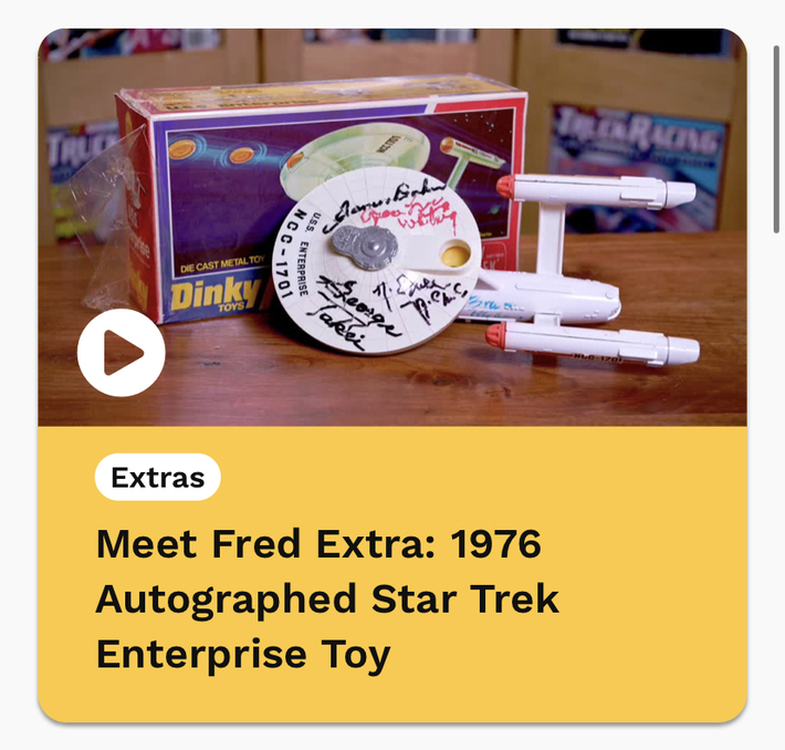 I was On, MeTV's, Collector's Call, S2E6, Meet Fred,with, Lisa Whelchel, shown was our Autographed, Dinky, Star Trek, Enterprise,