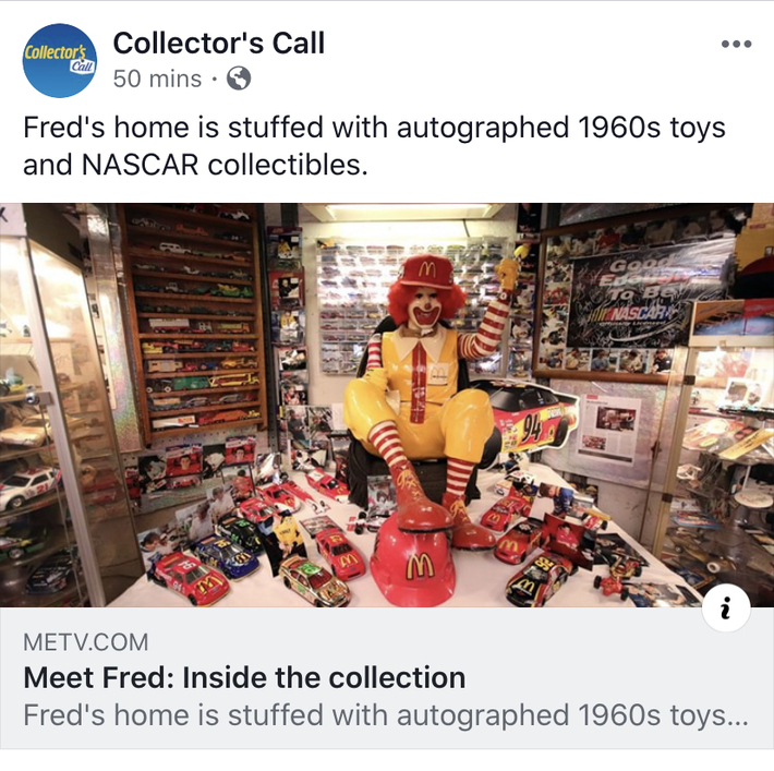 I was On, MeTV's, Collector's Call, S2E6, Meet Fred,with, Lisa Whelchel, shown was Ronald McDonald Robot