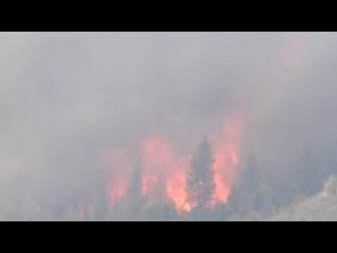 At least 63 rescued by military helicopters after wildfire in Sierra National Forest