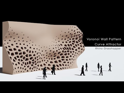 Voronoi Wall Pattern Curve Attractor Rhino Grasshopper Tutorial