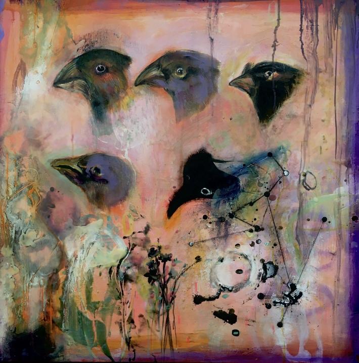 Darwin's finches 30 x30