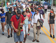 Hurricane Alley supporters march to City Hall