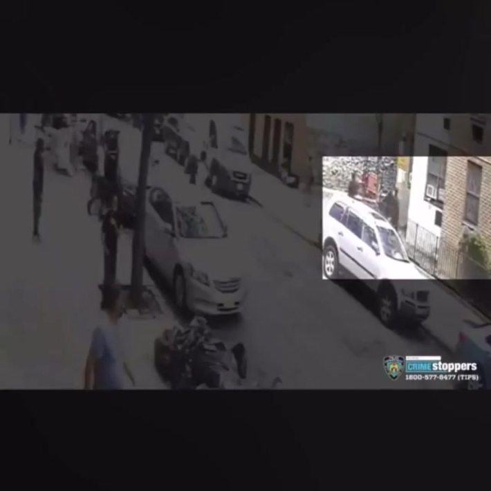 Surveillance footage of a 17 year-old getting shot in the head
