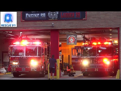FDNY Respond to Fire Near Firehouse