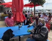 Having lunch at Queenscliff