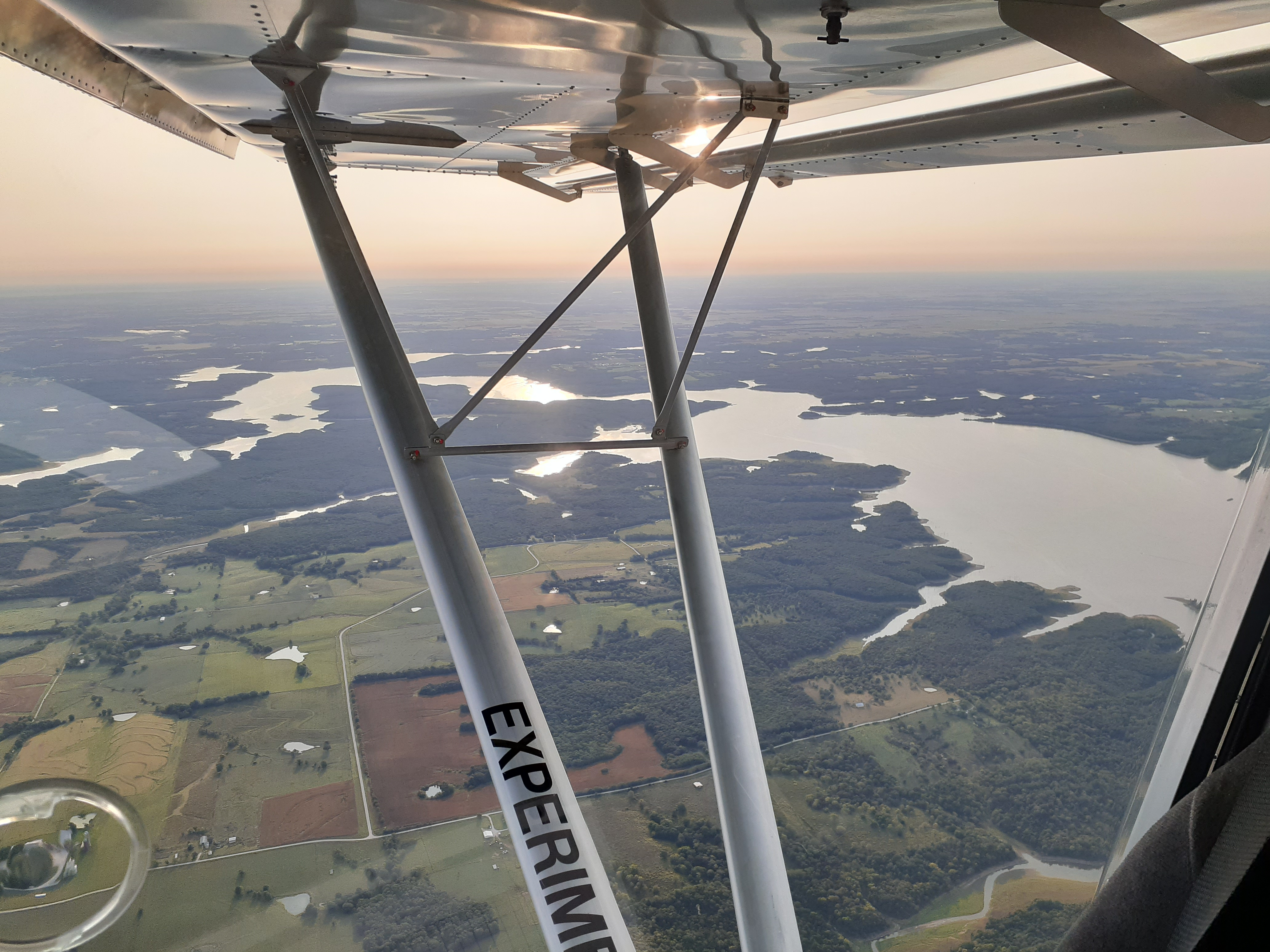 Flying home over beautiful central Missouri