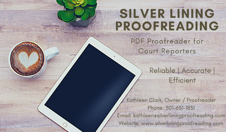 Silver Lining Proofreading Business Card